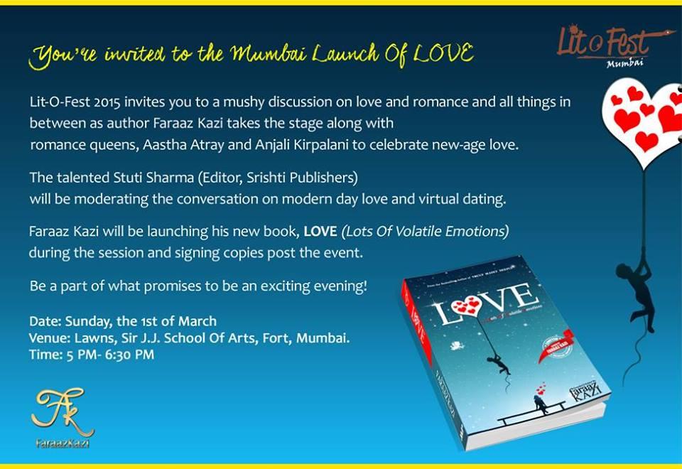 Faraaz Kazi Mumbai Launch Of Love