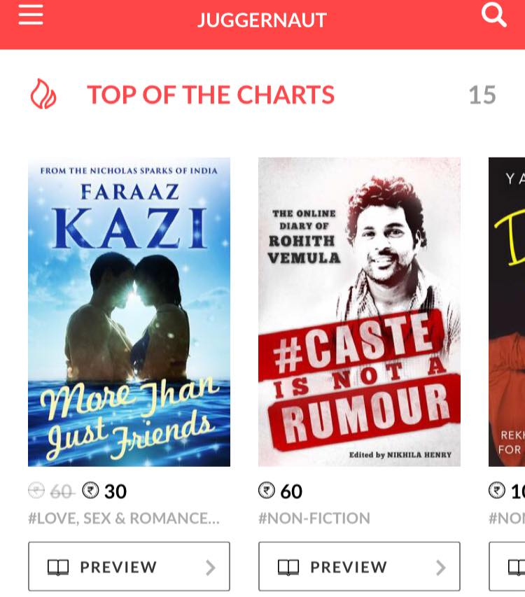 Screen Shot Of The Book Charts