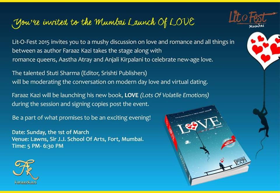 Faraaz Kazi Mumbai Launch Of Love