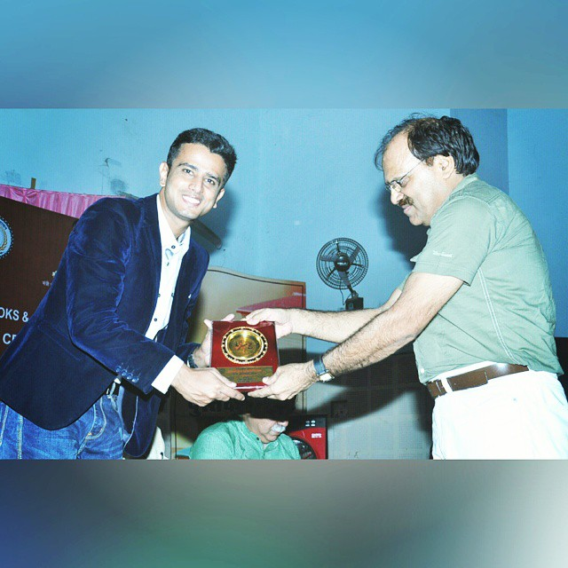 Photo of Faraaz Kazi felicitated for contributions made to the writing industrie