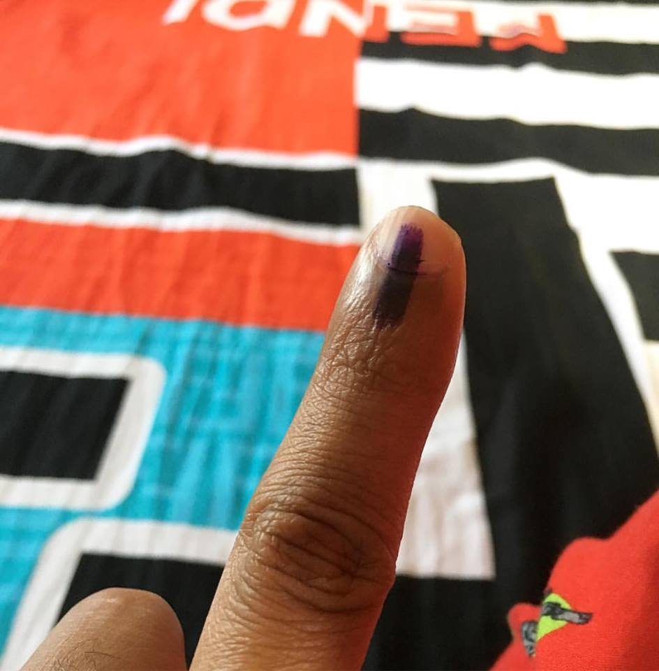 photo of voting done
