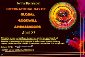 International Day of Global Goodwill Ambassadors 04-27